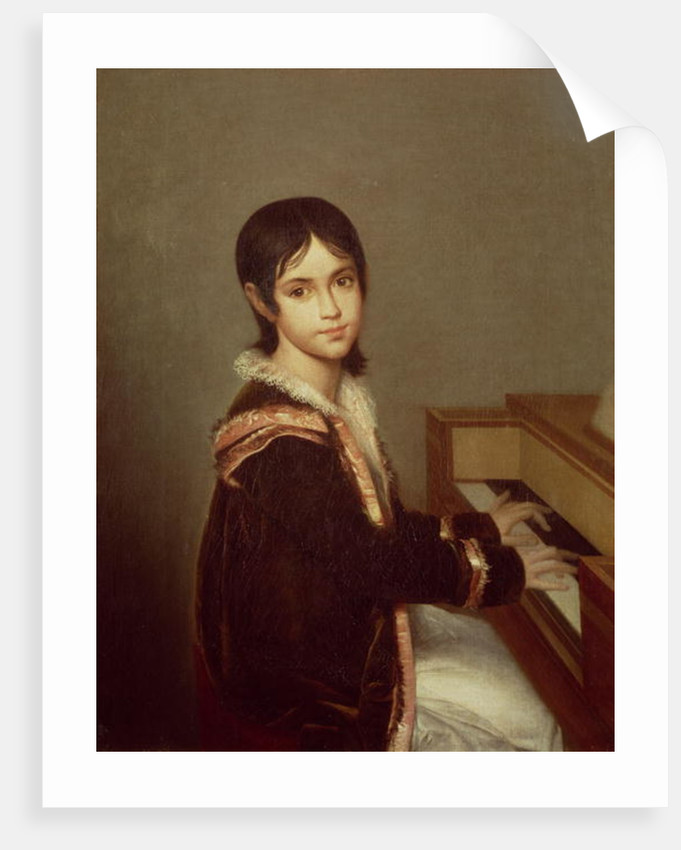 The Artist's Daughter at the Piano by Domingos Antonio de Sequeira
