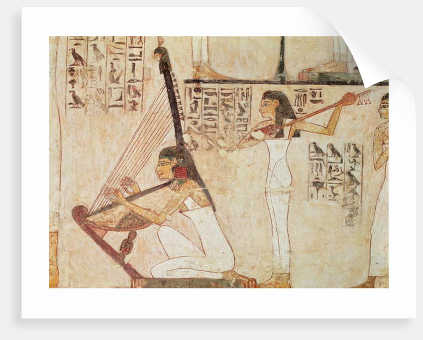 Two Musicians by Egyptian 18th Dynasty