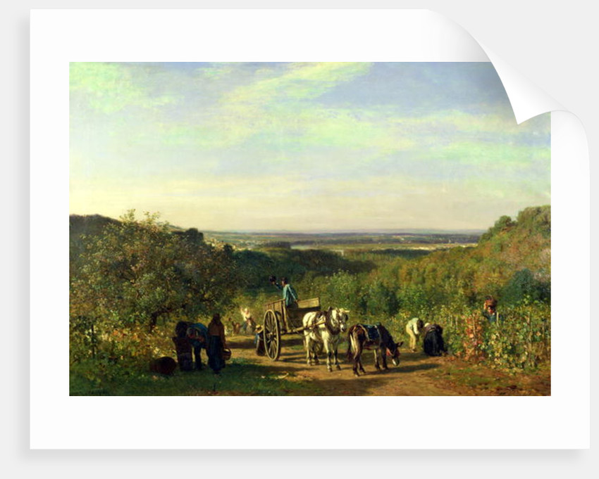 View from the Hilltops of Suresnes or, The Grape Harvest at Suresnes by Constant-Emile Troyon