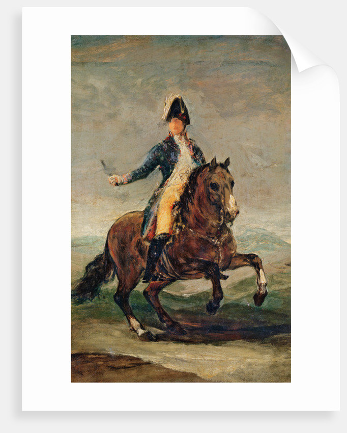 Equestrian Portrait of Ferdinand VII King of Spain by Francisco Jose de Goya y Lucientes