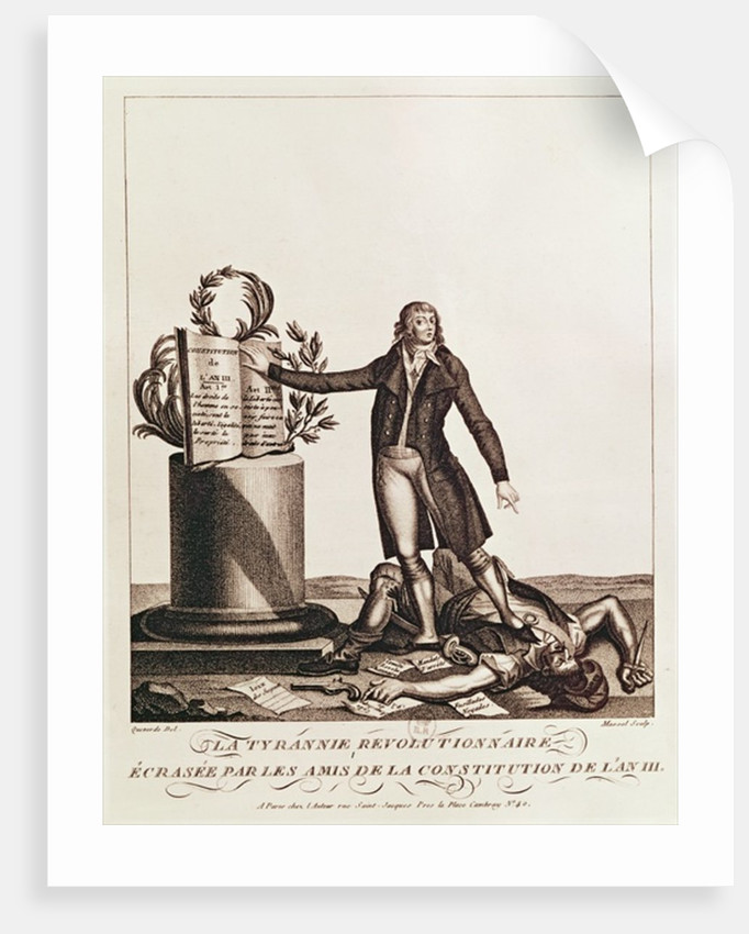 The Tyrant of the Revolution Crushed by the Supporters of the Constitution of An III by Francois Maria Isidore Queverdo