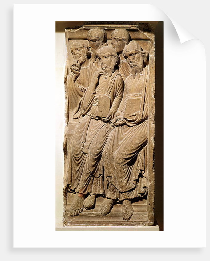 Relief depicting apostles by French School