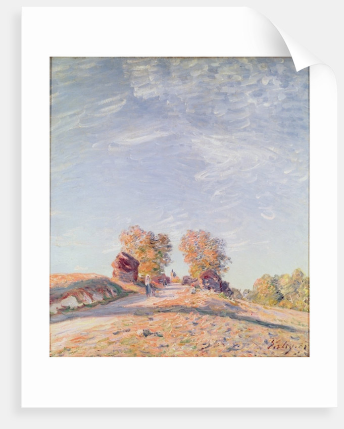 Uphill Road in Sunshine by Alfred Sisley