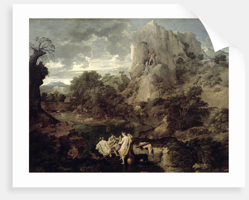 Landscape with Hercules and Cacus by Nicolas Poussin