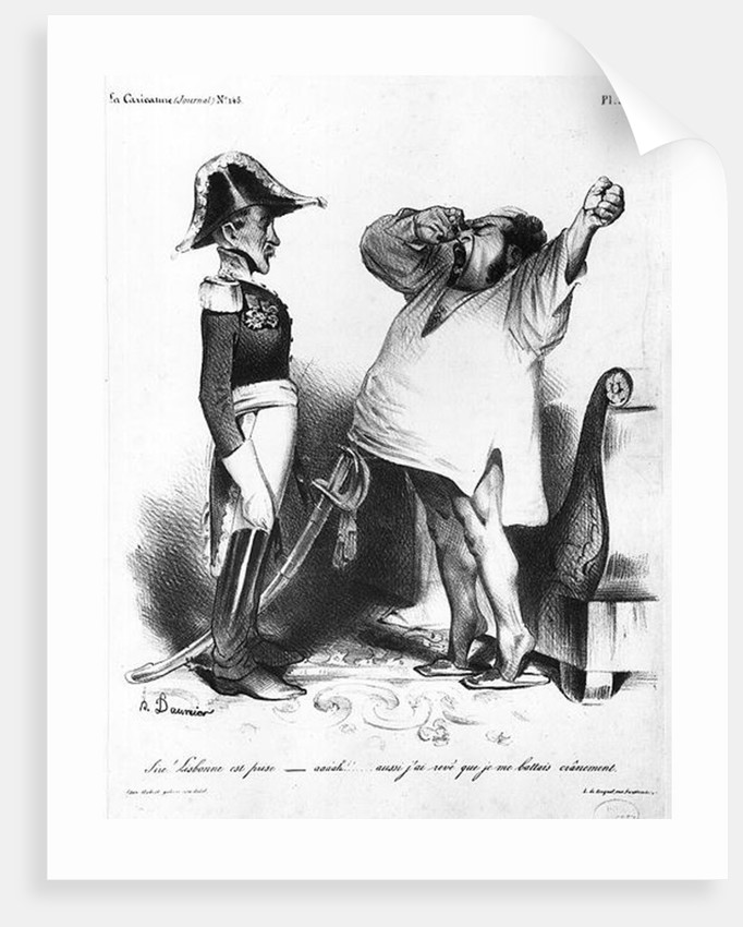 The Count of Villaflor telling Pedro I Emperor of Brazil and King of Portugal that he has recaptured Lisbon by Honore Daumier