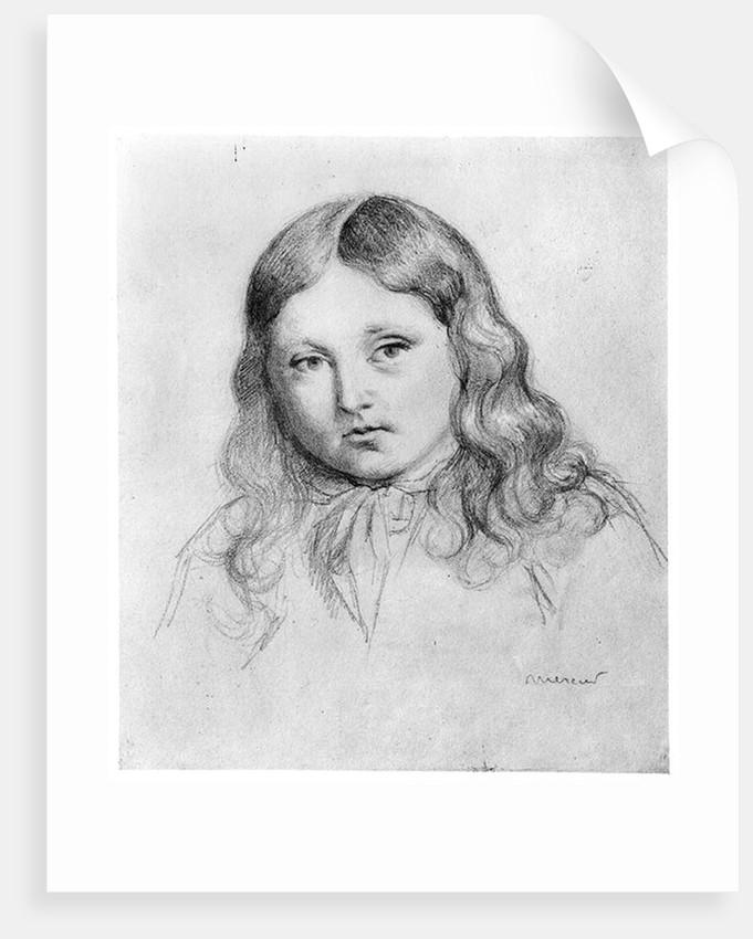 Portrait of Solange Sand by Mercier