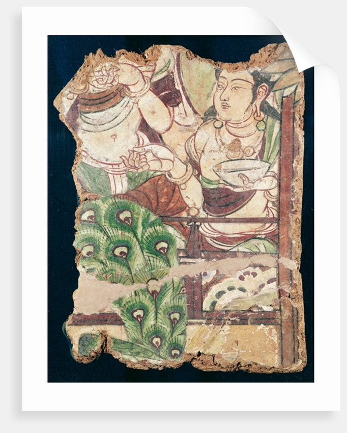 Fragment depicting a Buddhist paradise by Chinese School