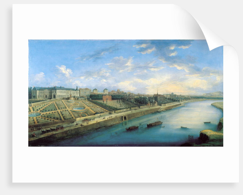 View of Passy and Chaillot from Grenelle by Charles Laurent Grevenbroeck