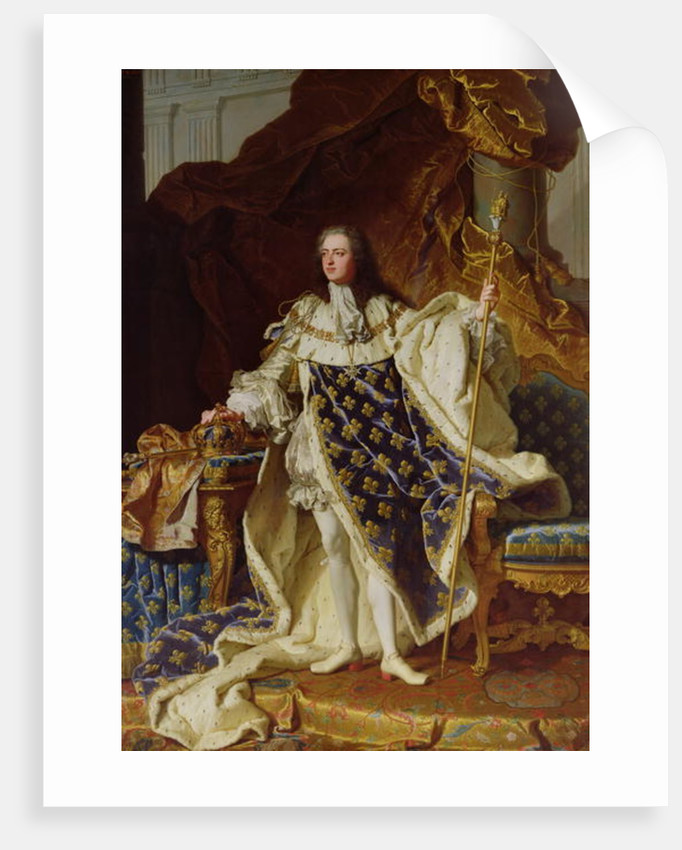 Portrait of Louis XV in his Coronation Robes by Hyacinthe Francois Rigaud