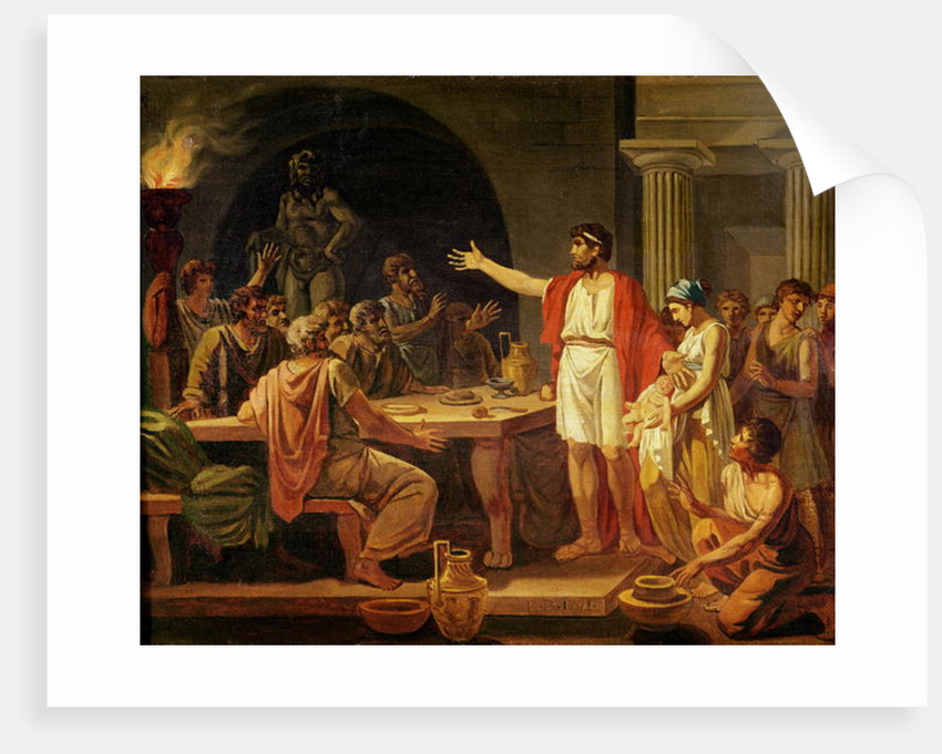 Study for Lycurgus Showing the Ancients of Sparta their King by Jacques Louis David