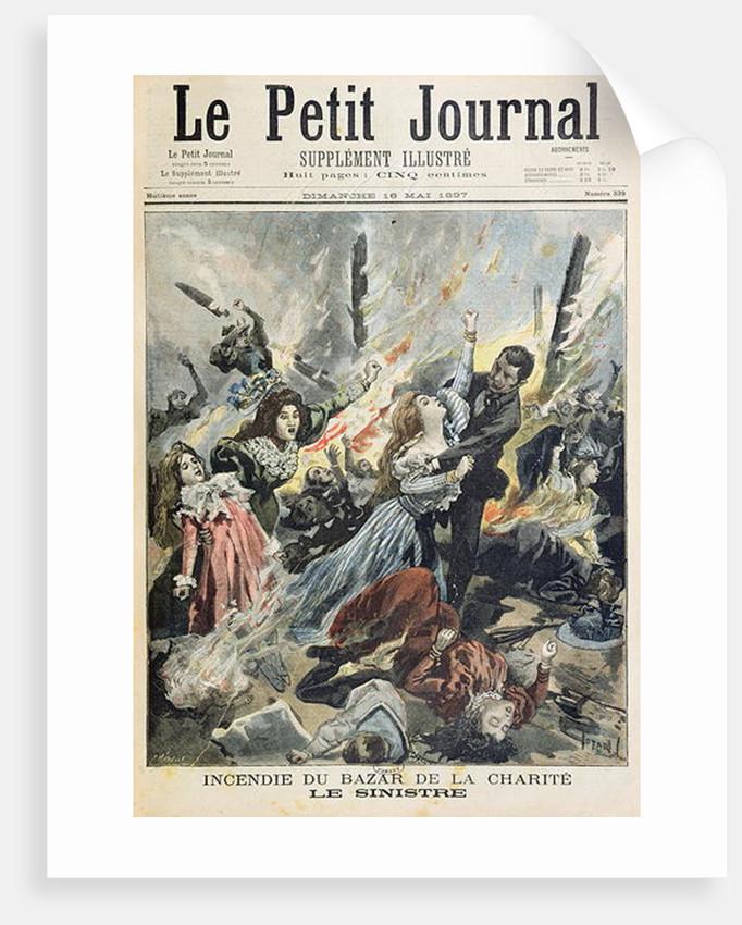 Fire at the Bazar de la Charite by F.L. & Tofani