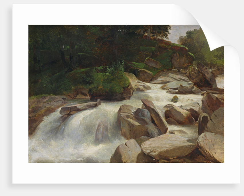 River Study by Alexandre Calame