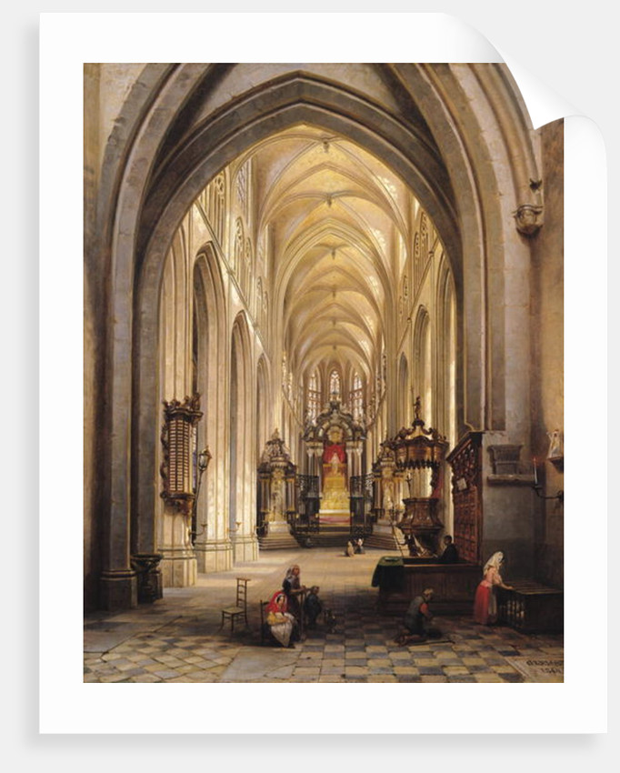 Interior of a Church by Jules Victor Genisson