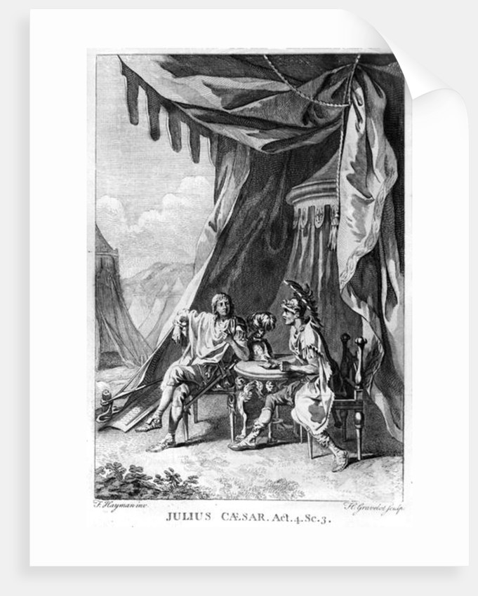Brutus and Cassius in Brutus's Tent by Francis Hayman