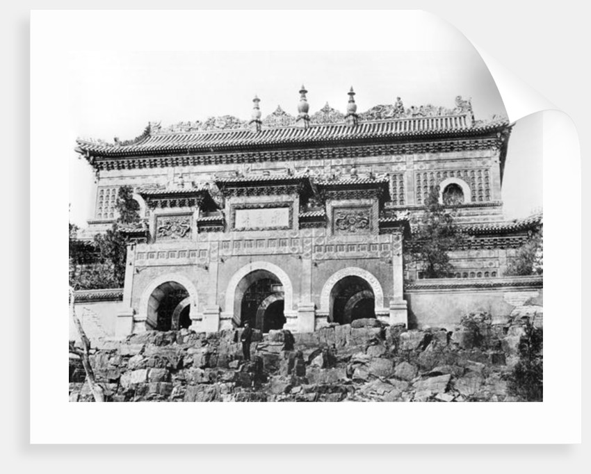 Entrance of the Forbidden City in Peking, China by French Photographer