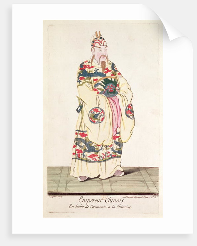 Chinese Emperor in Ceremonial Costume by Pierre Giffart