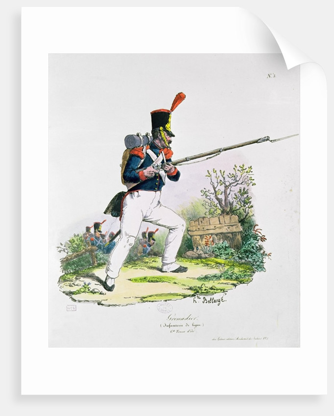 Grenadier Guard by Joseph-Louis-Hippolyte Bellange