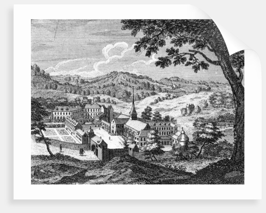 General view of the Abbey of Port-Royal des Champs by Louise Madelaine Cochin