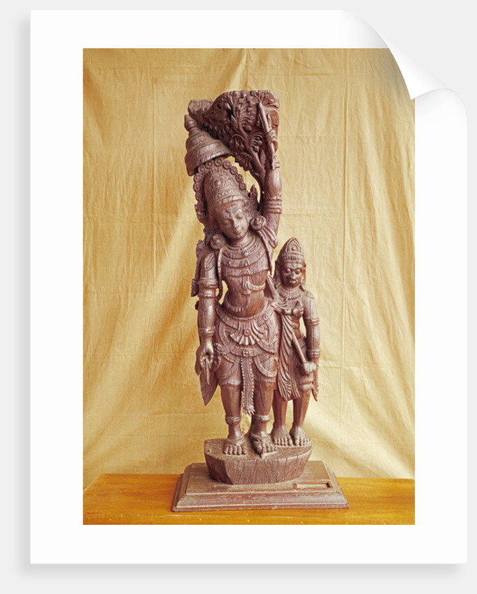 Sri Rama and Hanuman by Indian School