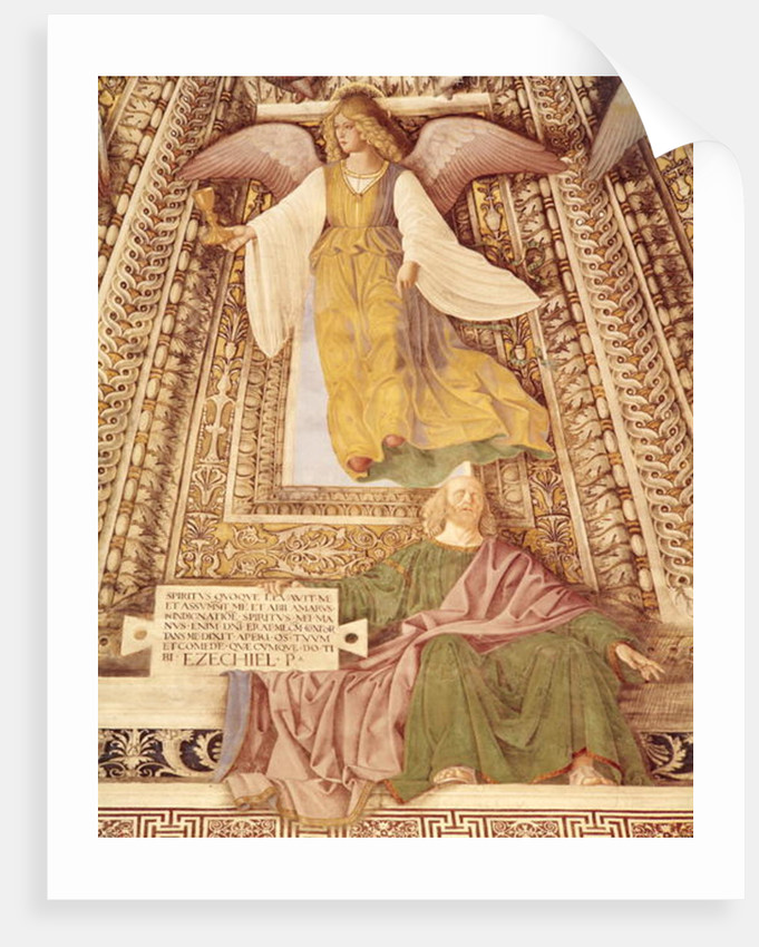 Ezekiel and the Angel holding the chalice of the Passion of Christ by Melozzo da Forli