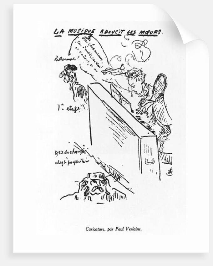 'La Musique adoucit les moeurs', Arthur Rimbaud playing piano by Paul Verlaine