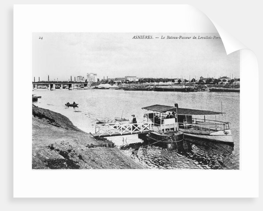 Asnieres, the ferry at Levallois-Perret by French Photographer