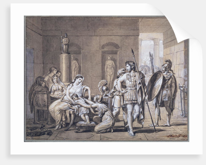 The Departure of Hector by Jacques Louis David