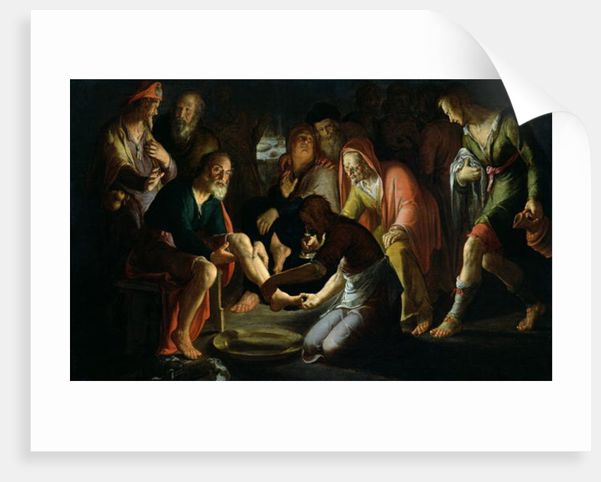 Christ Washing the Disciples' Feet by Peter Wtewael
