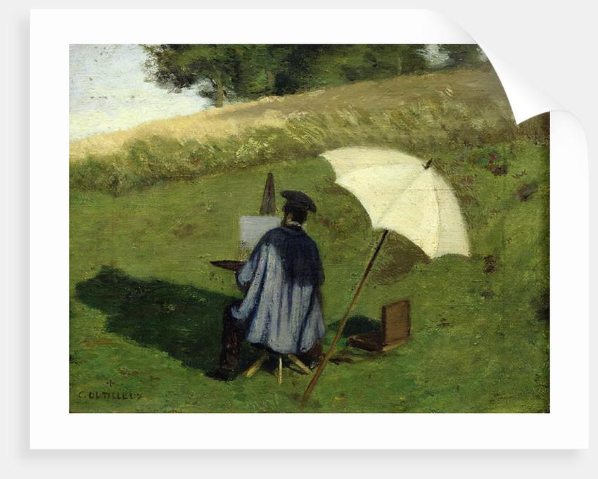Desire Dubois Painting in the Open Air by Henri Joseph Constant Dutilleux