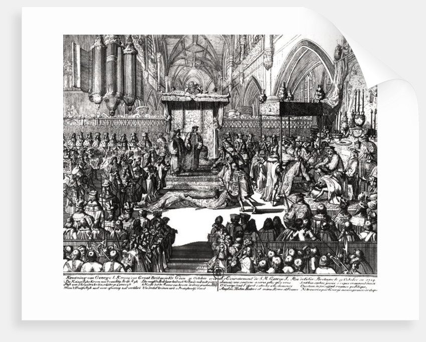 The Coronation of King George I at Westminster Abbey by Unknown