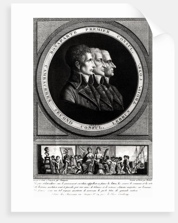 Portrait of the Three Consuls of the Republic, completed by Edme Bovinet by Alexis Chataigner