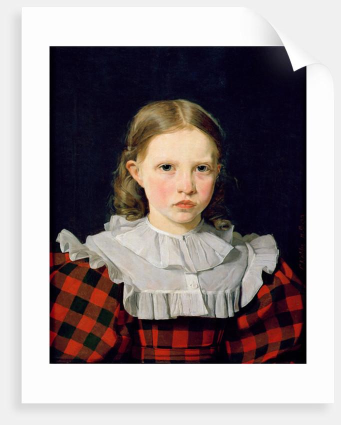 Portrait of Adolphine Kobke by Christen Schjellerup Kobke
