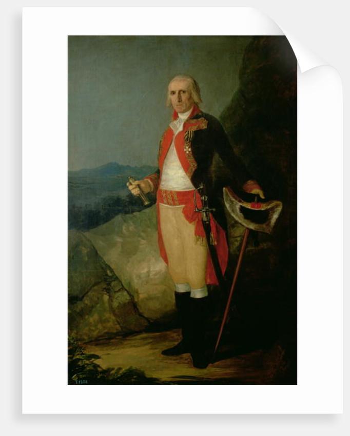 General Jose de Urrutia by Francisco Jose de Goya y Lucientes