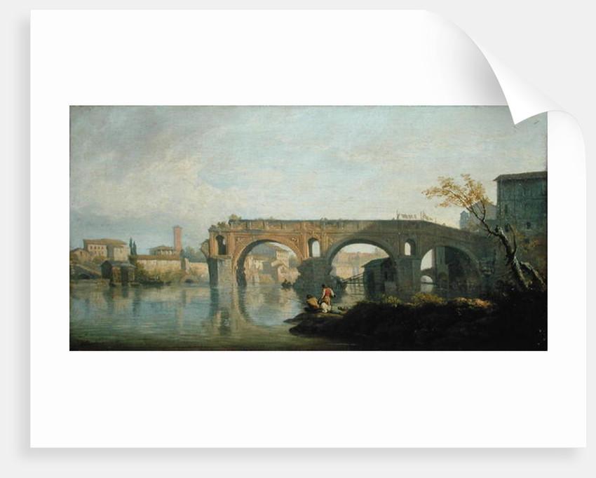 The Ponte Rotto, Rome by Claude Joseph Vernet