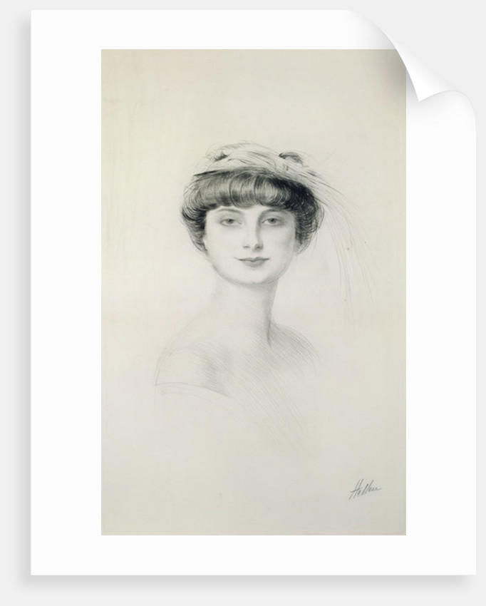 Portrait of Anna de Noailles by Paul Cesar Helleu