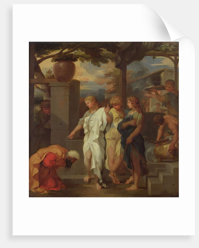 Abraham and the Three Angels by Sebastien Bourdon