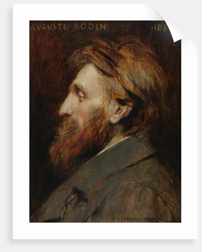 Portrait of Auguste Rodin by Francois Flameng