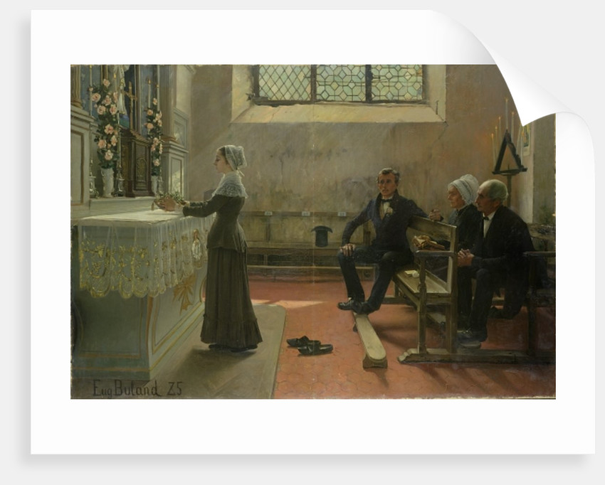 Offering to the Virgin the Day After the Wedding, 1885 by Jean Eugene Buland