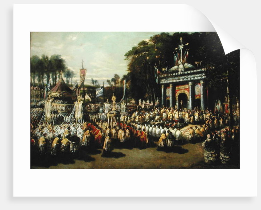 Procession of the Holy Sacrament, 1855 by Antoine Detrez
