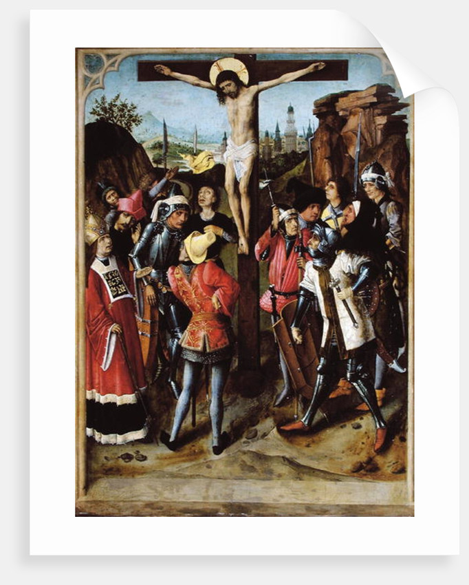 The Crucifixion by Master of the Gathering of the Manna