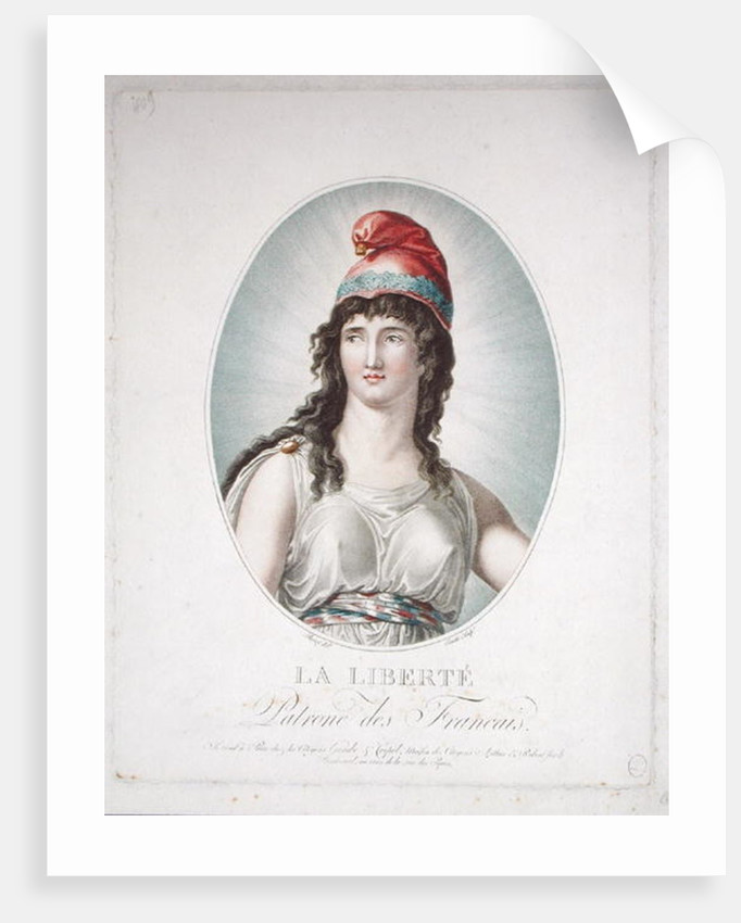 Liberty, Patron of the French, engraved by Ruotte by Simon Louis Boizot