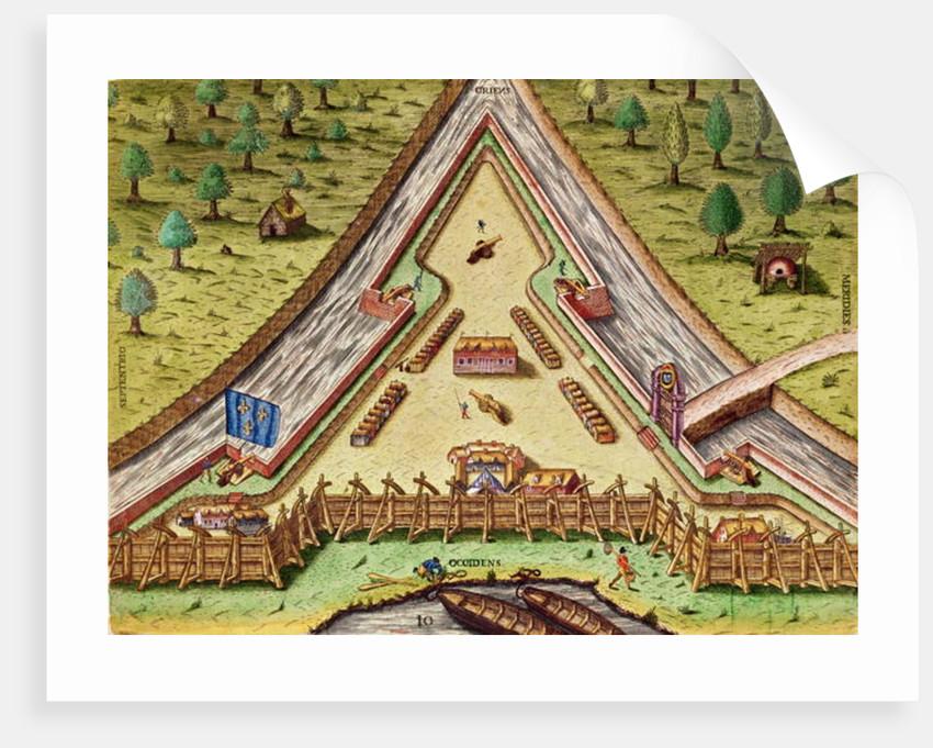 Fort Caroline by Jacques Le Moyne