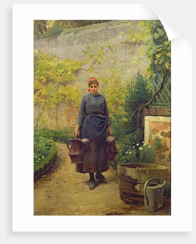 Woman with Watering Cans by Louis Emile Adan