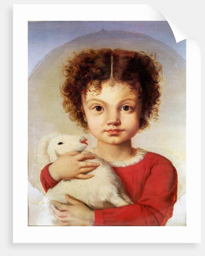 Portrait of the Artist's Daughter, Lina by Luigi Calamatta