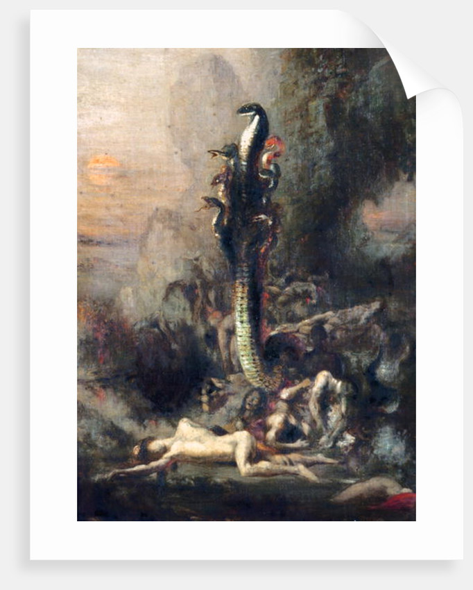 Hercules and the Lernaean Hydra, after Gustave Moreau by Narcisse Berchere