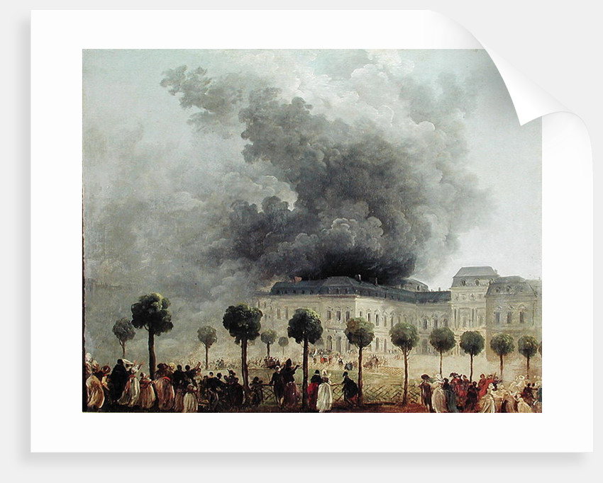 Fire at the Opera House of the Palais-Royal in 1781 by Hubert Robert