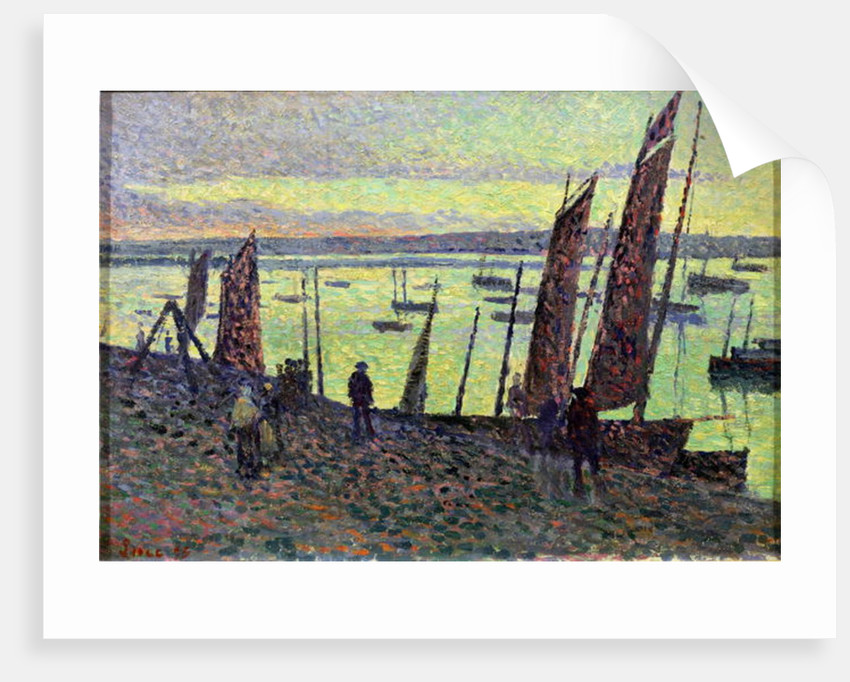 Boats at Camaret by Maximilien Luce