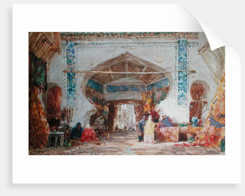 Bazaar in Constantinople by Felix Ziem