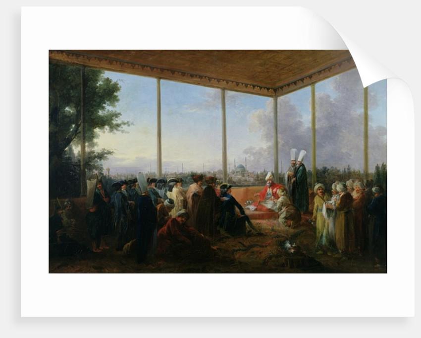 Audience Given in Constantinople by the Grand Vizier Aimali Carac for Francois-Emmanuel Guignard Comte de Saint-Priest by Francesco Giuseppe Casanova