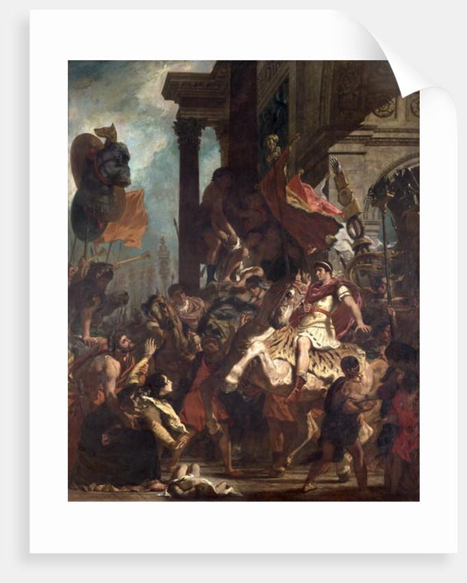 The Justice of Trajan by Ferdinand Victor Eugene Delacroix